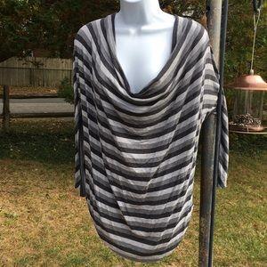 Adrienne vidadini grey stripe size M